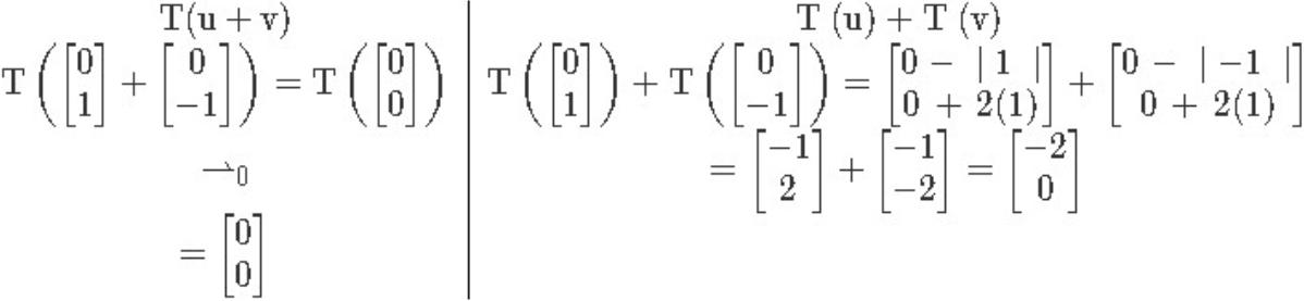 Properties of linear transformation