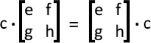 Properties of Scalar Multiplication