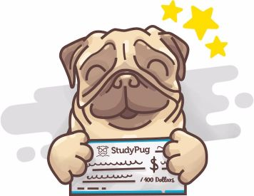 Pug winning a scholarship from StudyPug