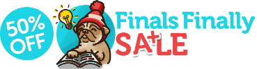 It's finally finals sale