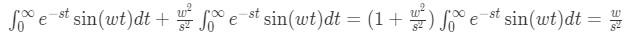 Laplace transform of sine pt.10