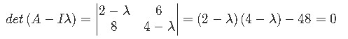 Finding the eigenvalues