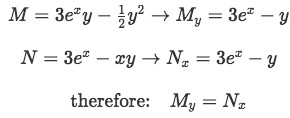Proof differential equation is exact
