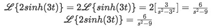 Equation for example 4(b):Final solution for the Laplace transform