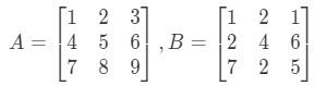 Equation 6: 3 x 3 Matrix Multiplication Example pt.1