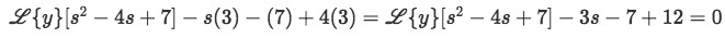 Equation for example 2(c): Applying the initial conditions to the problem