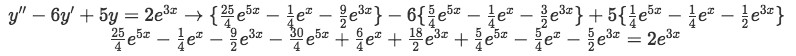 Equation 9: Proof part 2 - Substituting values found on equation 8 into equation 7