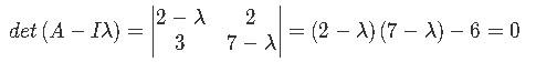 Finding eigenvalues