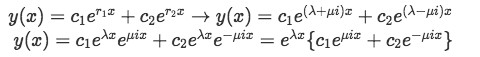 Equation 7: Solving for the general solution of differential equations with complex roots (part 1)