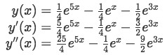 Equation 8: Proof part 1 - Obtaining the derivatives of y