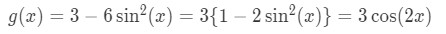 Function g(x) using different notation
