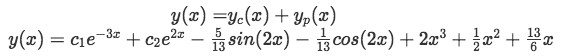 Equation 16: Final solution to the differential equation