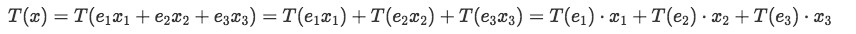 Equation 14: Linear transformation of vector x