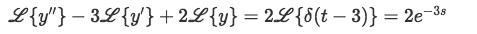 Distributing the laplace transform in the differential equation containing the Dirac Delta function