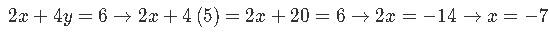 Matrix solving for x