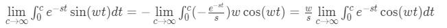 Laplace transform of sine pt.4