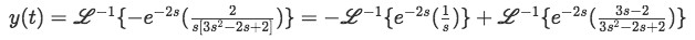 Inverse Laplace transform for second term in equation 14
