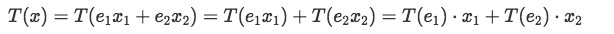 Equation 7: Linear transformation of vector x