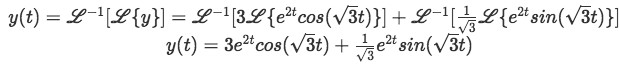 Equation for example 2(h): Final solution for the differential equation