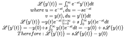 Equation 4: The Laplace transform of y'