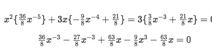 Substituting the values found in equation 6, into equation 5