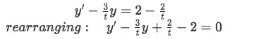 Example 2: Solve the given differential equation