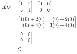 Equation 11: Matrix Multiplication for Zero Matrix example pt.4