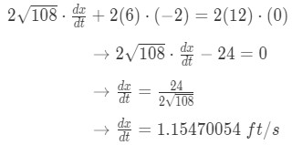 Equation 2: related rates ladder problem pt.7