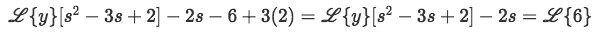 Equation for example 1(c): Applying the initial conditions to the problem