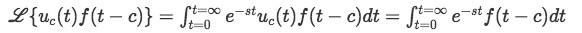 Laplace transform of shifted function (part 1).