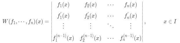 Mathematical representation of the wronskian