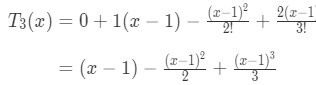 Equation 9: Taylor Series Polynomial lnx pt.4