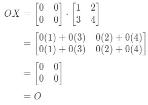 Equation 11: Matrix Multiplication for Zero Matrix example pt.3