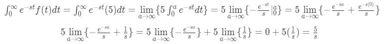 Question 1: Laplace transform of 1 answer