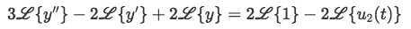 Laplace transform of the differential equation