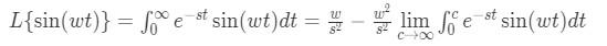 Laplace transform of sine pt.8