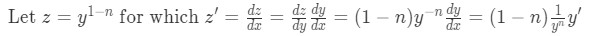 Equation 4: Substitutions to transform from nonlinear to linear