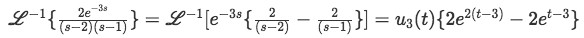 Solution of first right-hand term of the solution for the differential equation (solution for equation 21)
