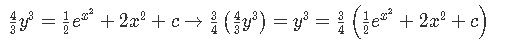 General solution for the differential equation