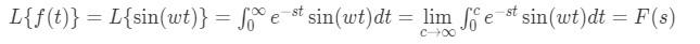 Laplace transform of sine pt.1