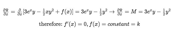 Finding f(x) by partially derivating Psi with respect to x