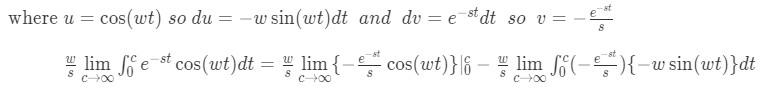 Laplace transform of sine pt.5