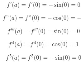 Equation 5: Taylor Series of cosx pt.2