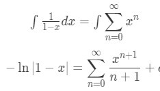 Equation 1: Power Series Representation integral pt.3