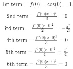 Equation 5: Taylor Series of cosx pt.3