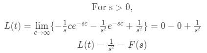 Laplace transform of t pt.3