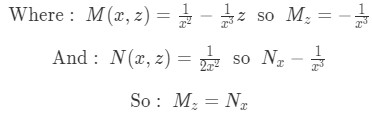 Condition met for Exact Equation of the differential equation