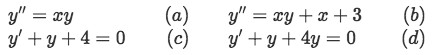 Equation 4: Examples of differential equations