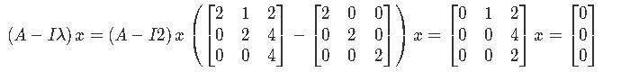 Finding an eigenvector
