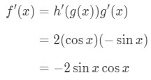 Equation 2: Derivative of cos^2x pt.5